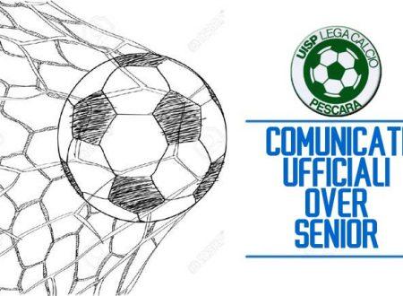 LEGA CALCIO PE | Comunicato Senior (n.40) e Over40 (n.30) di questa settimana