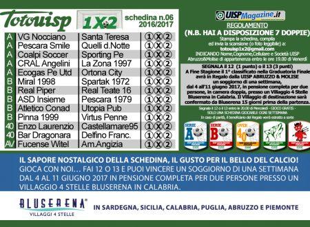 TOTOUISP1X2 | Clicca, Scarica e Gioca: Schedina n.06 2016-17