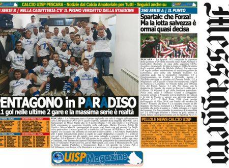 UISP IN EDICOLA   Giovedì 12 Aprile la Mezza Pagina UISP n°37