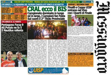UISP IN EDICOLA | Giovedì 19 Aprile la Mezza Pagina UISP n°38