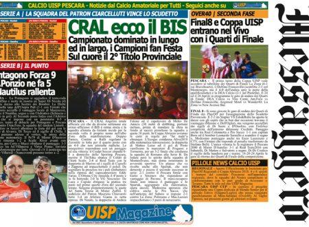 UISP IN EDICOLA   Giovedì 19 Aprile la Mezza Pagina UISP n°38