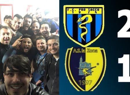 27G SERIE A | La Pro Sacco passa contro La Zona: 2-1 per i nerazzurri