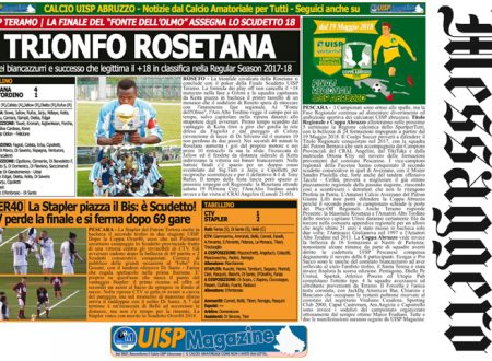 UISP IN EDICOLA   Giovedì 10 Maggio la Mezza Pagina UISP n°42