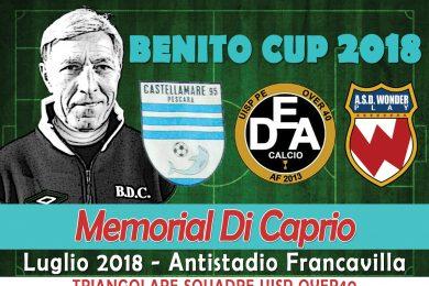 OV.40 | Benito CUP | Giovedì 19, ore 21.00 c'è la Finale del Memorial Di Caprio