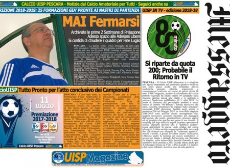UISP IN EDICOLA | Giovedì 05 Luglio la Mezza Pagina UISP n°49