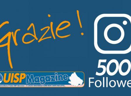 UISP SOCIAL | Piccolo Traguardo Instagram: 500 Grazie!
