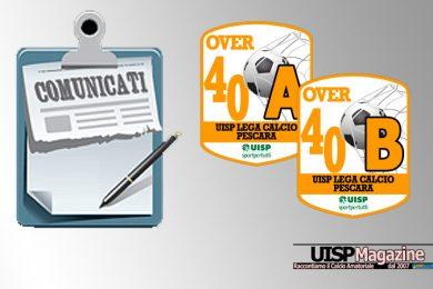 UISP CALCIO PESCARA | Pubblicato il Comunicato OVER40 n.15 | Stagione 18-19