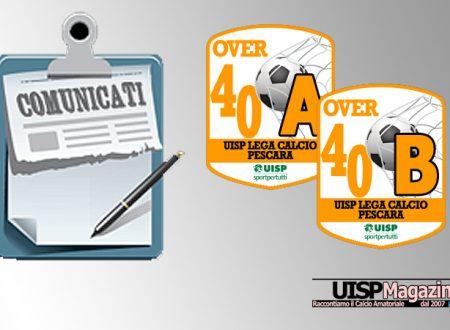UISP CALCIO PESCARA | Pubblicato il Comunicato OVER40 n.16 | Stagione 18-19