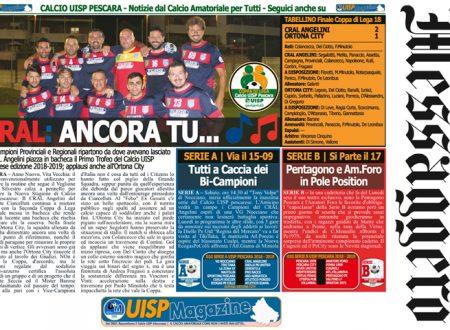 UISP IN EDICOLA | Giovedì 13 Settembre la Mezza Pagina UISP n°59