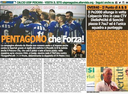 UISP IN EDICOLA | Giovedì 22 Novembre la Mezza Pagina UISP n°69 con Il Messaggero