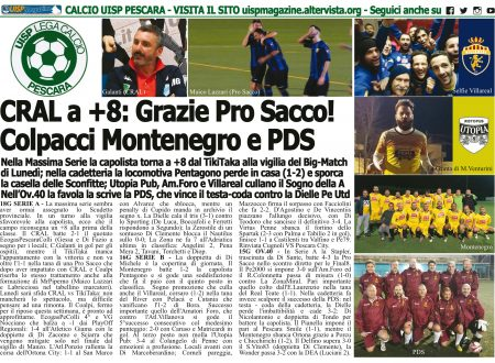 UISP IN EDICOLA | Giovedì 07 Febbraio la Mezza Pagina UISP n°80 con Il Messaggero