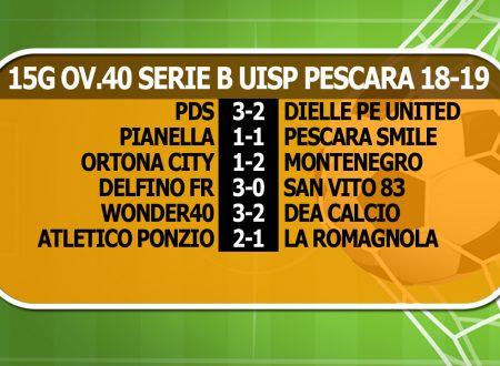 OVER40 | 15G B | Cadono le prime 2; Colpo PDS, l'A.Ponzio batte La Romagnola