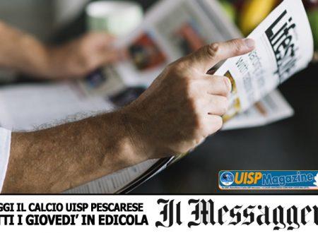 UISP IN EDICOLA | Giovedì 18 Aprile la Mezza Pagina UISP n°90 con Il Messaggero