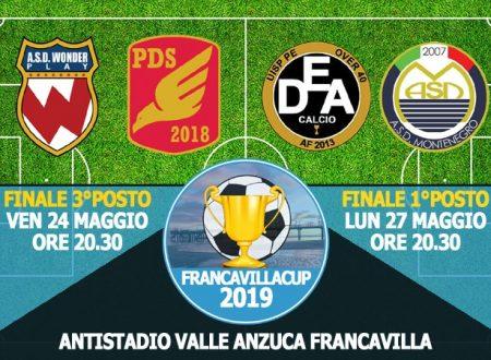 OVER40   Francavilla Cup 2019: Venerdì 24 e Lunedì 27 le Finali