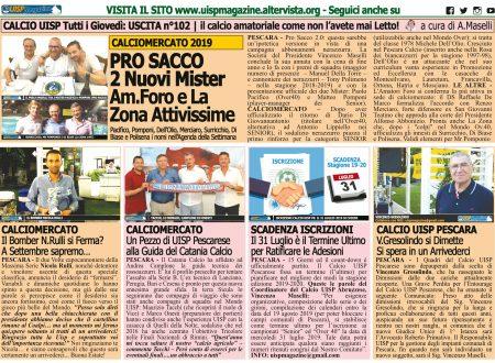 UISP IN EDICOLA | Eccezionalmente SABATO 20 Luglio la Mezza Pagina UISP n°102 con Il Messaggero